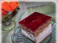 Korzenne ciasto dyniowe przekładane masą malinową