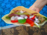 Kotleciki a`laKebab z rodzynkami i pikantnym sosem