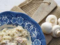 Kremowe risotto z szynką