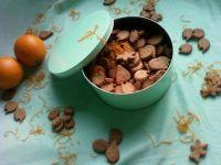 Kruche pomarańczowo kakaowe ciasteczka