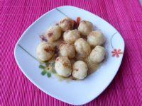 Kuleczki z ciasta ziemniaczanego na słodko