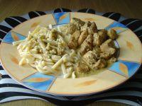 Kurczak garam masala z makaronem