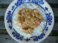 Kurczak w sosie paprykowym z curry i mleczkiem