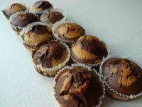 Łaciate muffinki a'la zebra