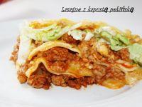 Lasagne z kapustą pekińską i wołowiną