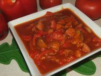 Leczo z czerwoną papryką