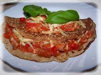 Lniane naleśniki z pomidorami