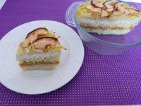 Makaronowa zapiekanka z jabłkami i serem