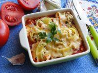 Makaronowe muszle zapiekane w sosie pomidorowym