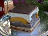 Ciasto makowo -brzoskwiniowe