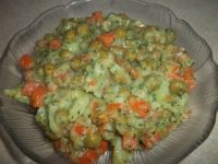 Marchewka z groszkiem i brokułami