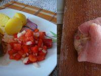 Mięsne zawijanki z pomidorami i serem