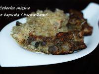 Mięsne żeberka z kapustą i borowikami