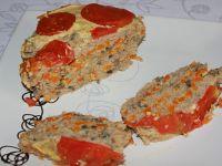 Mięsny blok z grzybami