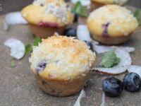 Mini babeczki kokosowe z borówką amerykańską