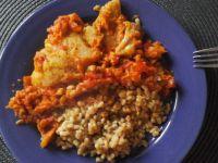 Mintaj z marchewką i papryka