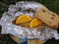 Mintaj z pomarańczą i czarnym pieprzem