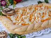 Morelowo-brzoskwiniowy  mazurek