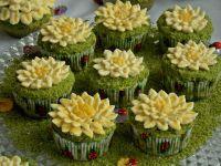 Muffinki Kwiatki na łące