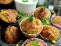 Muffinki z tuńczykiem i kukurydzą