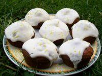 Muffiny dyniowe z sosem waniliowo-cytrynowym