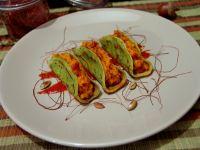 Naleśniki z rukoli z dynią i suszonymi pomidorami