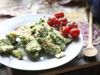 Omlet pełen zieleni
