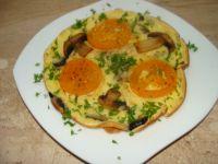 Omlet z pomidorami i pieczarkami