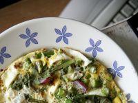 Omlet z warzywami i zielskiem