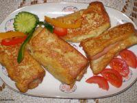 Paróweczki zapiekane w chlebie tostowym