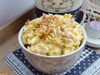 Pasta jajeczna z prażoną cebulką