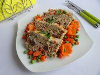 Pieczeń z mięsa mielonego z warzywami