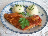 Pieczone mięso z cebulą