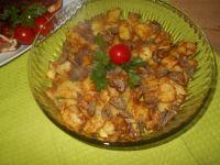 Pieczone ziemniaczki z szalotką i masłem
