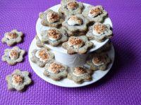 Piegowate ciasteczka z orzechami