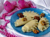 Pierogi serowo-bananowo-czekoladowe