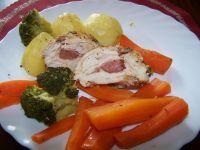 Pierś idnyka na parze z warzywami