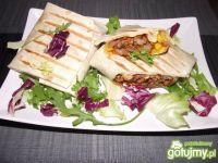 Pikantne burrito z mięsem