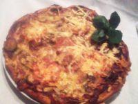 Pizza wiejska z maślakami