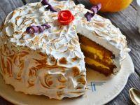 Płonący tort dyniowy