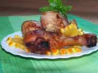 Podudzia z kurczaka w pomarańczach