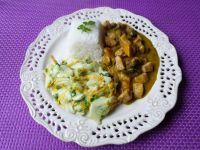 Potrawka z kurczaka, grzybów i dyni