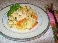 Potrawka z kurczaka z porem i kaszą jaglaną