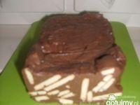 Pyszny domowy blok czekoladowy