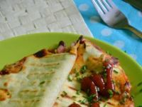 Quesadillas z fasolką i serem