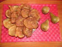 Racuszki z gruszką i wiórkami kokosowymi