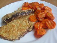 Rekin w sezamie z karmelizowaną marchewką