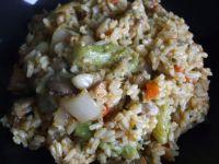 Risotto z brokułami i pieczarkami