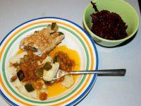 Roladki z indyka w sosie z cukinii