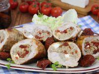 Roladki z kaszą fetą i pomidorami suszonymi